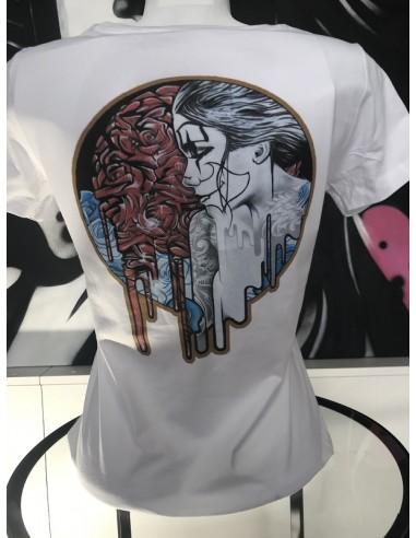 T-shirt - bleu blanc rouge - V-neck -...
